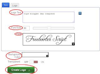 click text atau logo