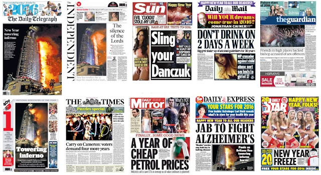 Jan 1 front pages