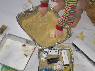 It's okay to let kids make a mess indoors.