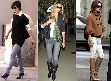 Outfits con jeans y botas - YouTube