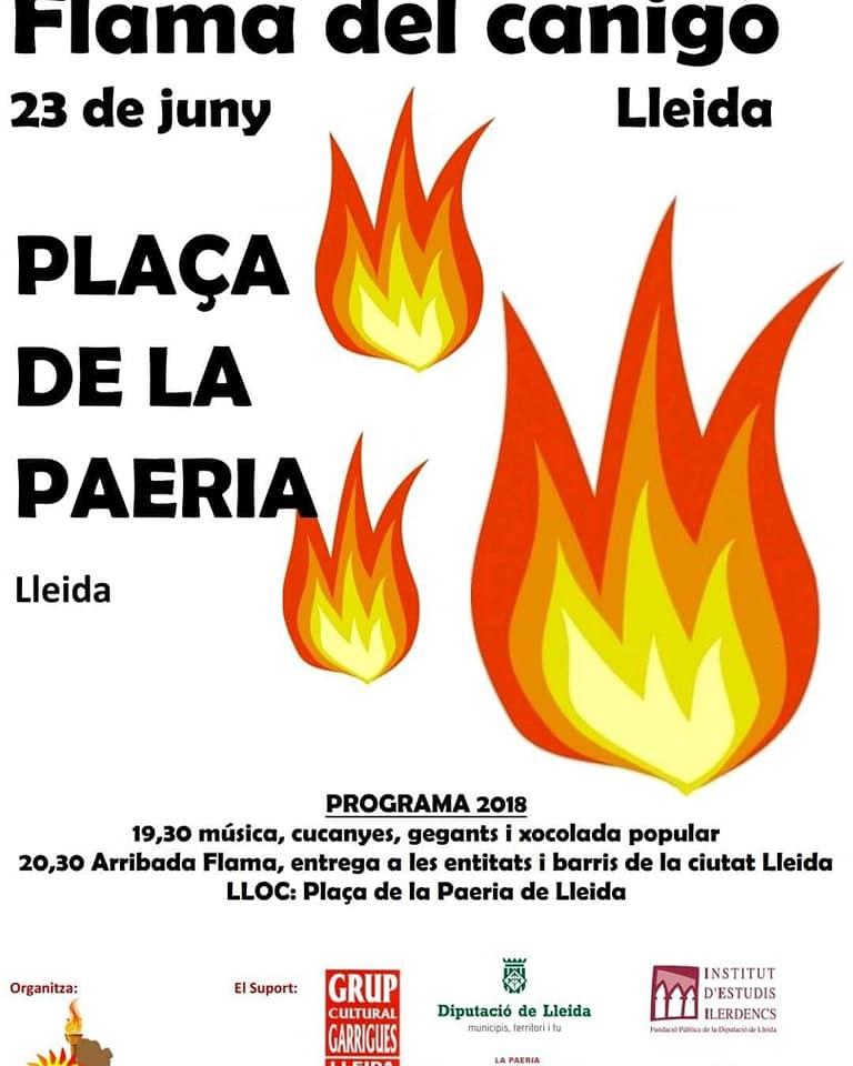 CARTELL DE LA FLAMA A LLEIDA