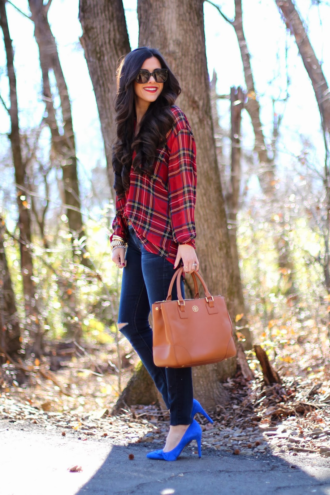 The Sweetest Thing, www.thesweetestthingblog.com, Emily Gemma, Celine Sunglasses, Celine Audrey, New Audrey Sunglasses, Sole Society, oversized tunic, tartan tunic, plaid shirt, tory burch