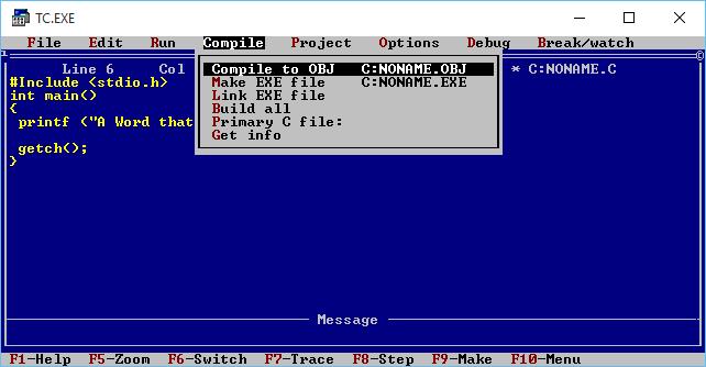 how to make c program