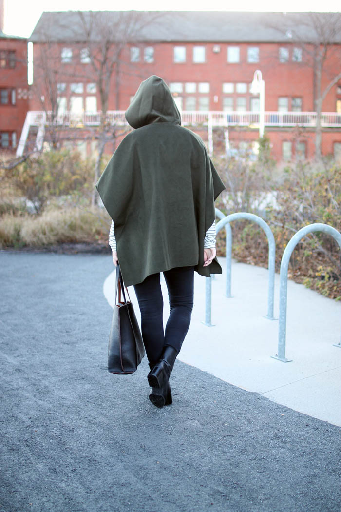 boston bloggers, olive cape poncho nordstrom, fall layers