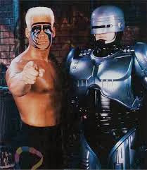 Wrestling with Robocop, alex murphy and sting