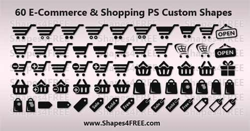 Shopping Ecommerce Shapes