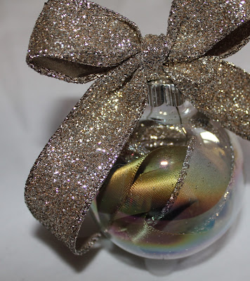 Ribbon Filled Glass Ornament - Turtles and Tails blog
