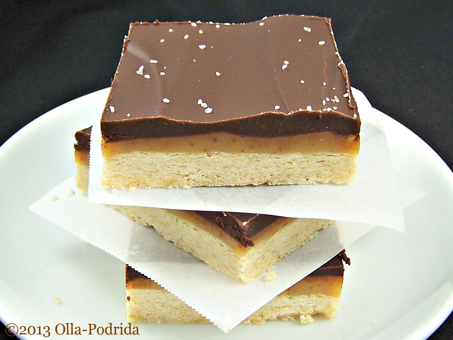 Caramel Shortbread Squares Recipe — Dishmaps