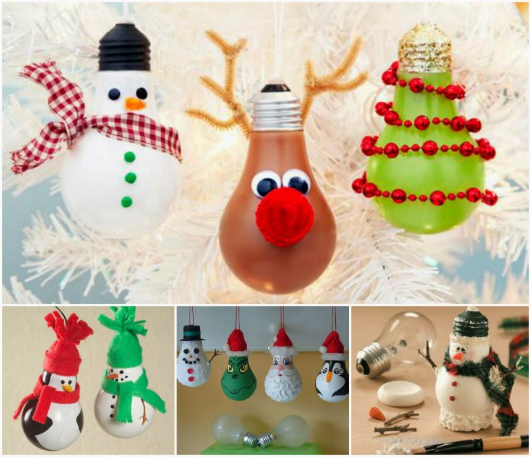 Christmas Light Bulb Decorations: Ideas & Products: Light Bulb Christmas Ornaments