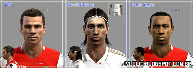 Madrid e Face de Paulo César do Sporting Braga para PES 2012 Download
