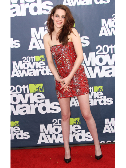 kristen stewart mtv movie awards 2011 hair. kristen stewart mtv movie