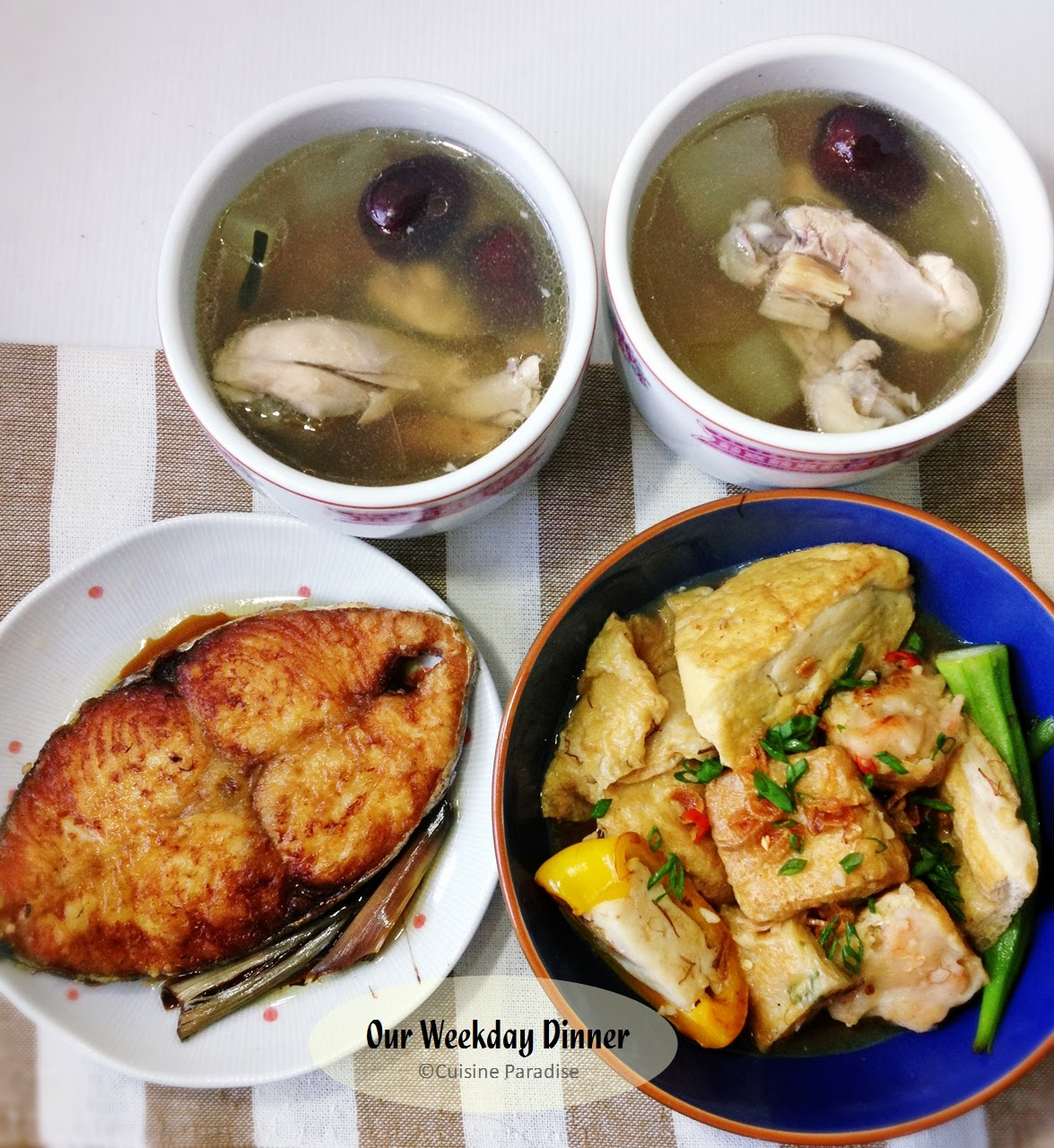 Cuisine paradise singapore food blog recipes reviews and travel weekly meal planner double boiled winter melon soup and pan fried batang fish forumfinder Choice Image