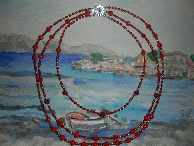Coral rojo y plata de ley 925. 57cm. Gil ® brujaness, brujaness's workshop, sterling silver necklace