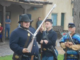 civil war infantry reenactment