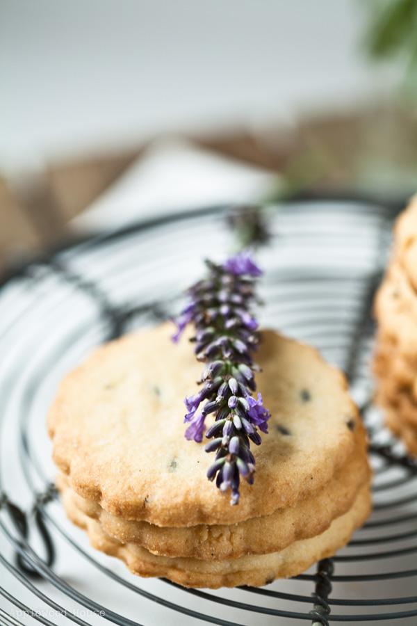 Lavendel Keks Blüte Sommer Gebäck