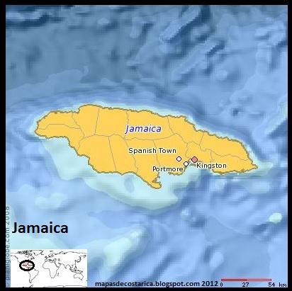 Jamaica (planiglobe)