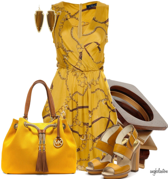 Ladies Yellow outfit set