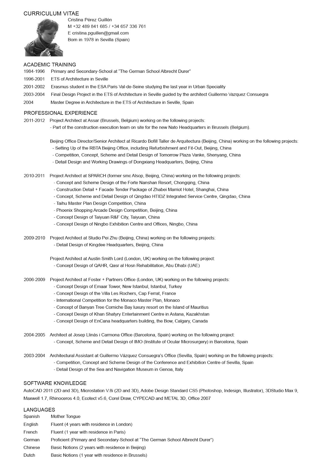architects cv doc mittnastaliv tk architects cv 24 04 2017