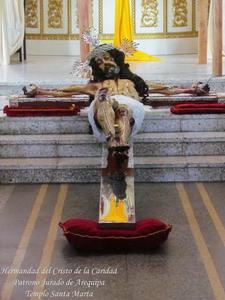V Sabado de Cuaresma - Tradicional Bajada del Cristo de la Caridad - Templo Santa Marta