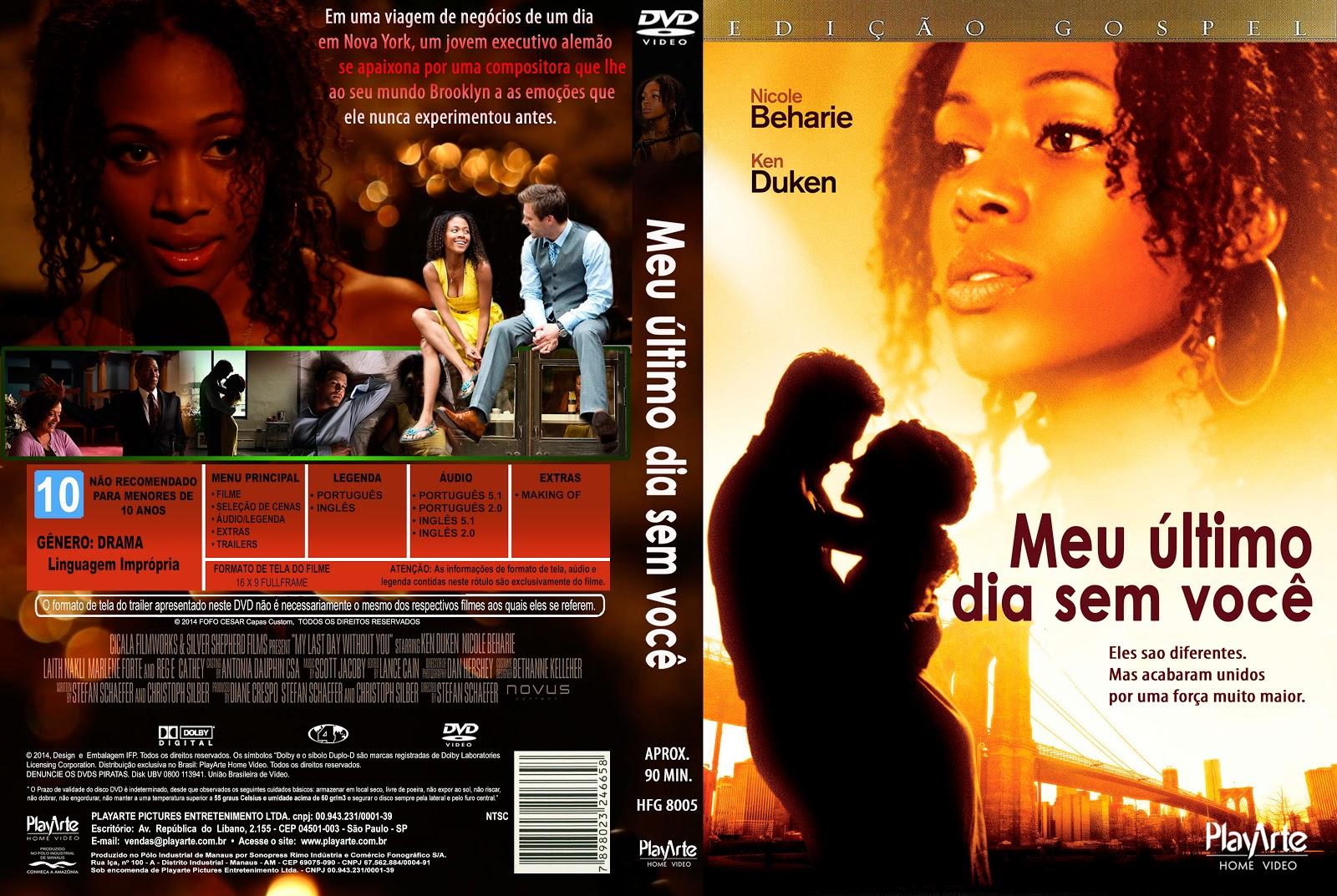 Capa DVD Meu Último Dia Sem Você
