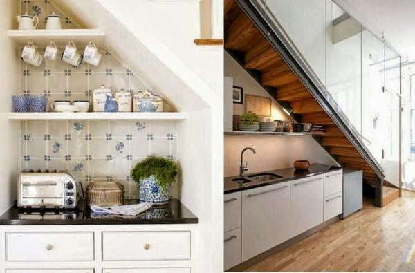 Variasi pemanfaatan ruang di bawah tangga lembaga for Kitchen set bawah