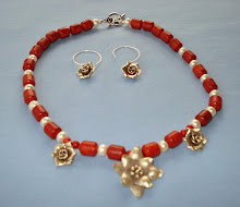 Red Coral, Pearls and Hilltribe Silver