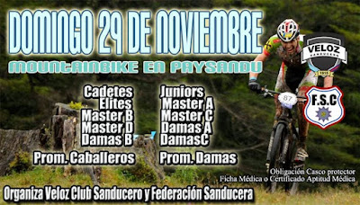 MTB en Paysandú (org: Veloz Club Sanducero, 29/nov/2015)