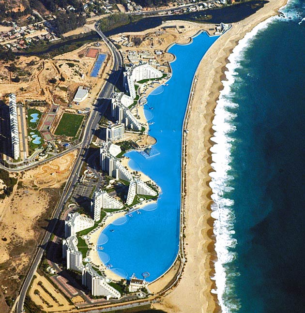 Justacargal World 39 S Largest Pool Chile
