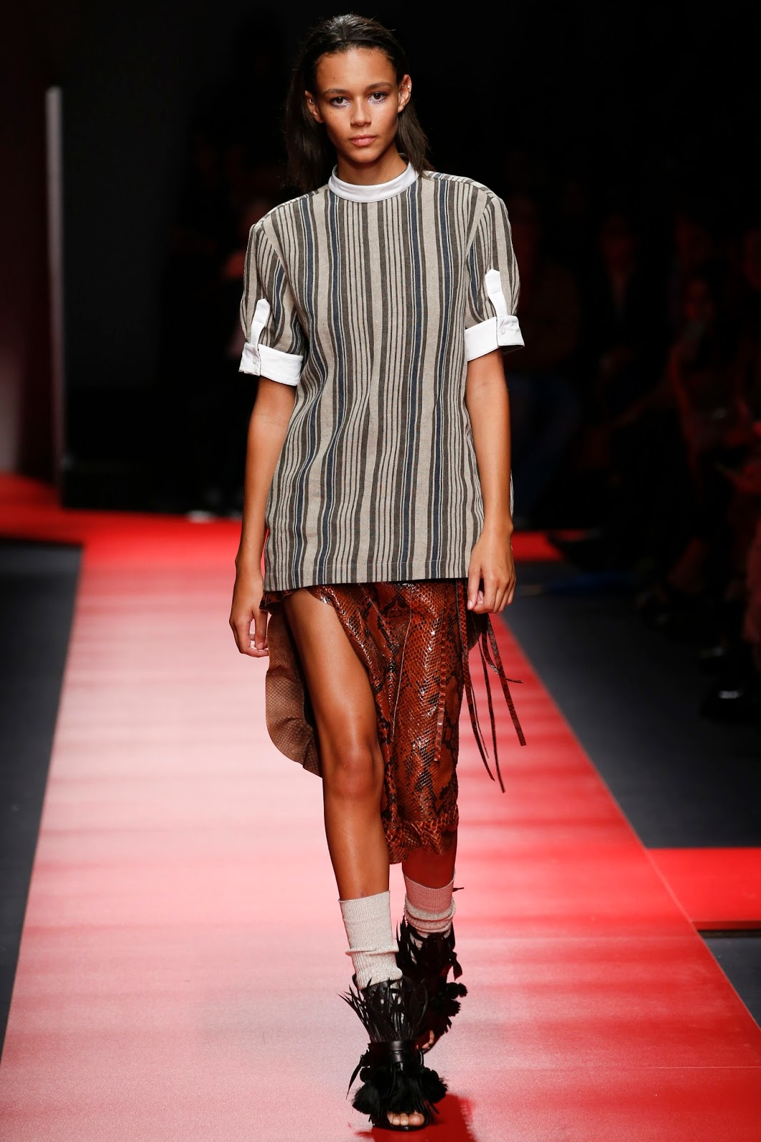 milan fashion week, look, catwalk show, spring 2016