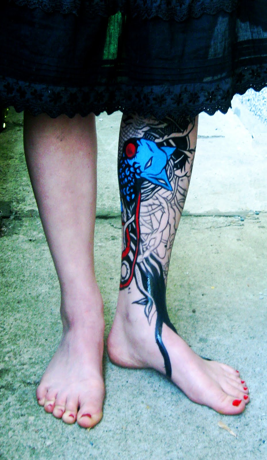 EATEN BY DUCKS: [about my bodyart and press]