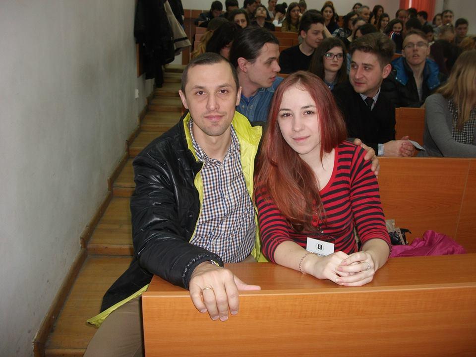 Alături de fosta elevă Mihaela Ciudin, studentă în anul I la Istorie, UAIC, 4.04.2015...