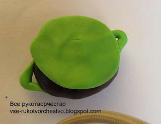 Чайный сервиз из природных материалов и пластилина. МК