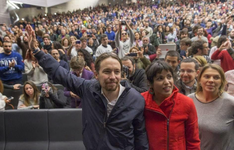 Decenas de miles de personas colapsan Madrid en la Marcha del Cambio de Podemos
