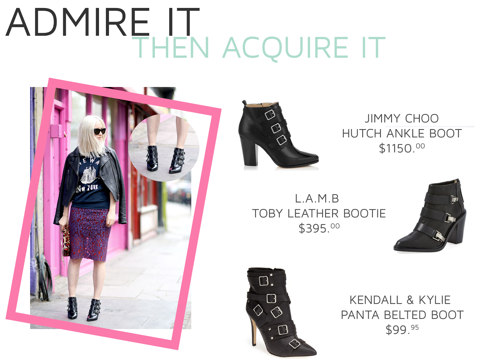 JIMMY CHOO HUTCH ANKLE BOOTIES, LAMB TOBY BOOTIES, MARC BY MARC JACOBS