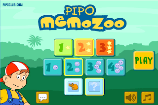 Pipo Memo Zoo - App to play & learn wild animals with Pipo