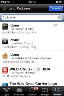 Archivo ldone en Cydia