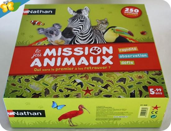 Jeu Mission animaux, édité par Nathan