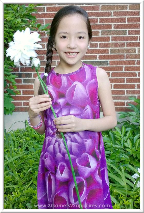 KidCuteTure Fiona Rosebud Dress - Kids Fashions  |  www.3Garnets2Sapphires.com