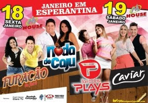 Forró dos Plays,Furacão do Forró,Caviar e Noda de Caju em Esperantina