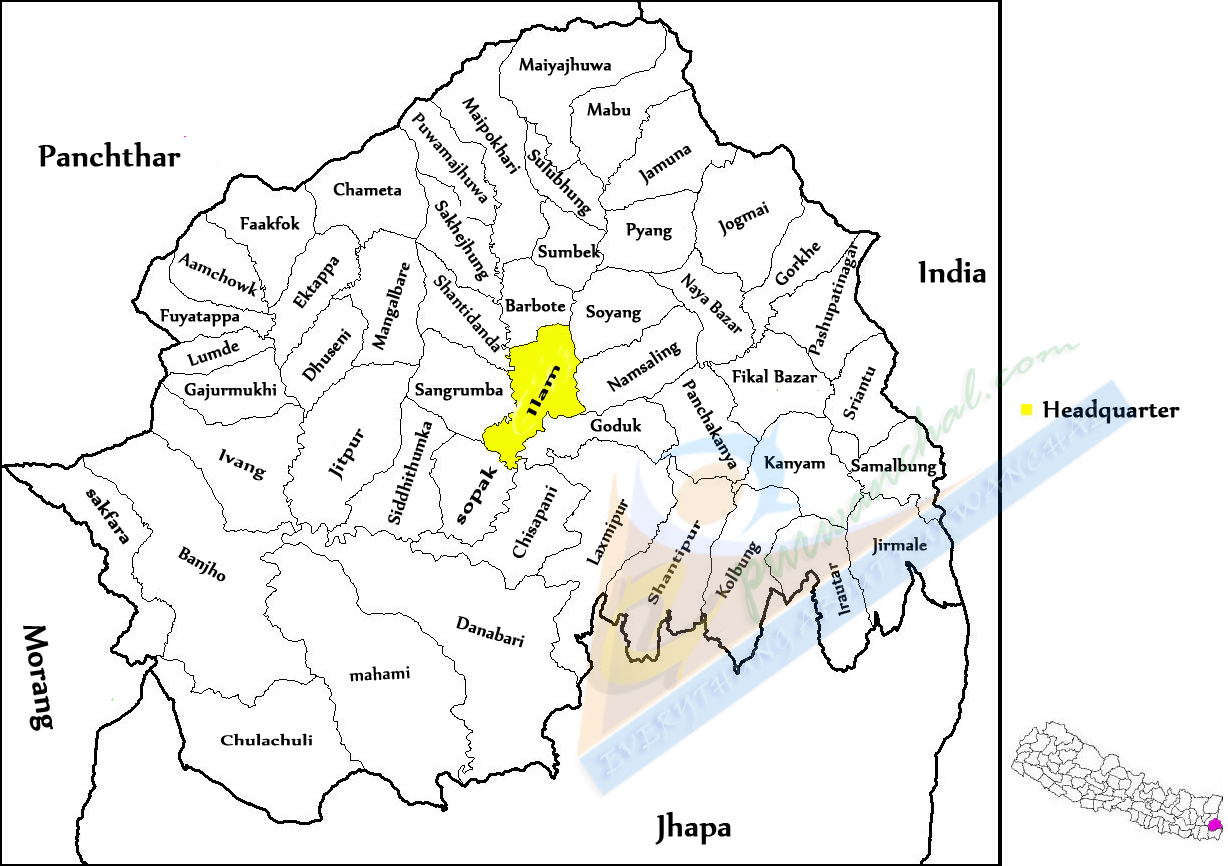 Introduction To Ilam District EVERYTHING ABOUT PURWANCHAL - Ilam map