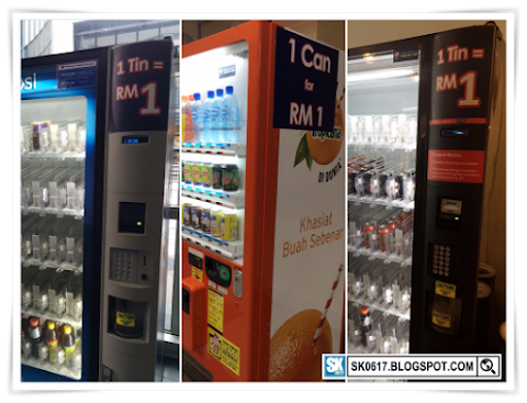 Vending Machines Selling Canned Drinks at RM1 Each
