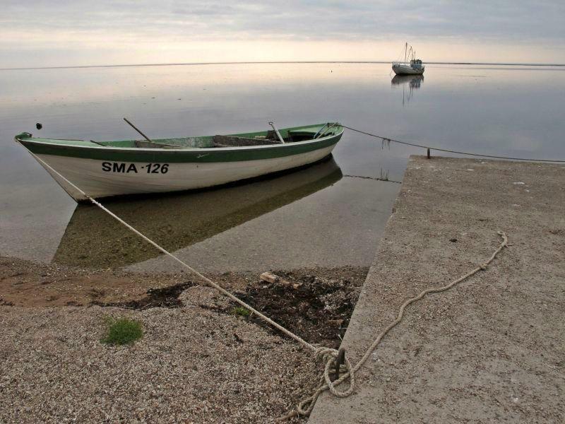 Tranquil boats on the Baltic Sea, Saaremaa, Estonia. Photo by susan wellington