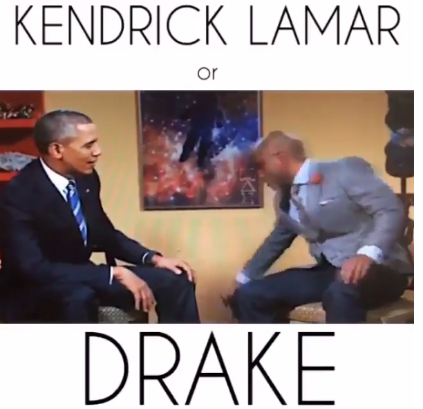 EnT : Who would win in a rap battle between Drake & Kendrick Lamar? Guess who Pres. Obama picked [ Videos ]