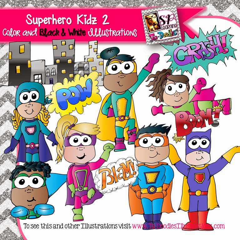 https://www.teacherspayteachers.com/Product/Superheroes-Kids-2-clip-art-1727995