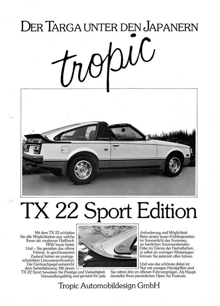 TX22 TOYOTA CELICA TROPIC