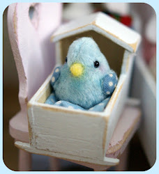 My Little Handsewn Blue Bird of Happiness