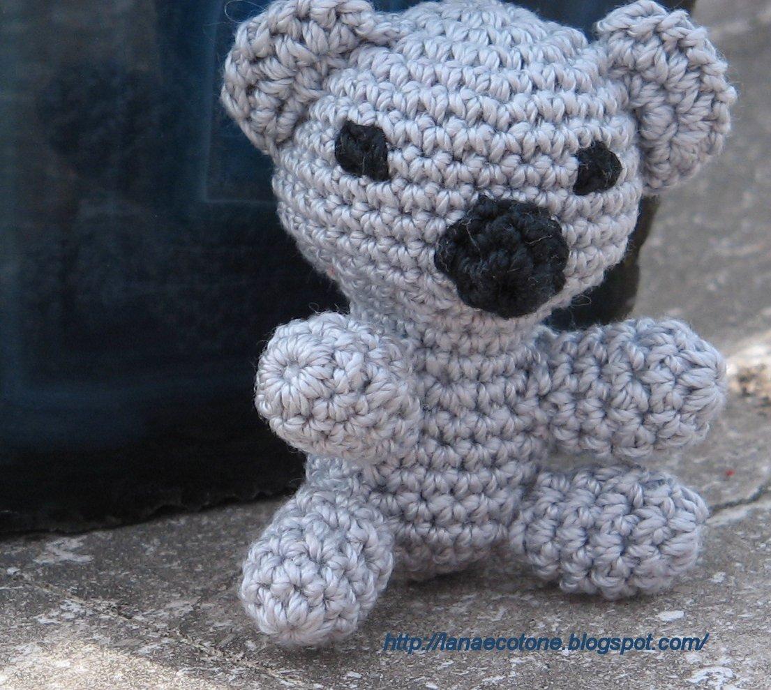 Amigurumi Koala Yapilisi : Lana e Cotone (maglia e uncinetto): Koala amigurumi