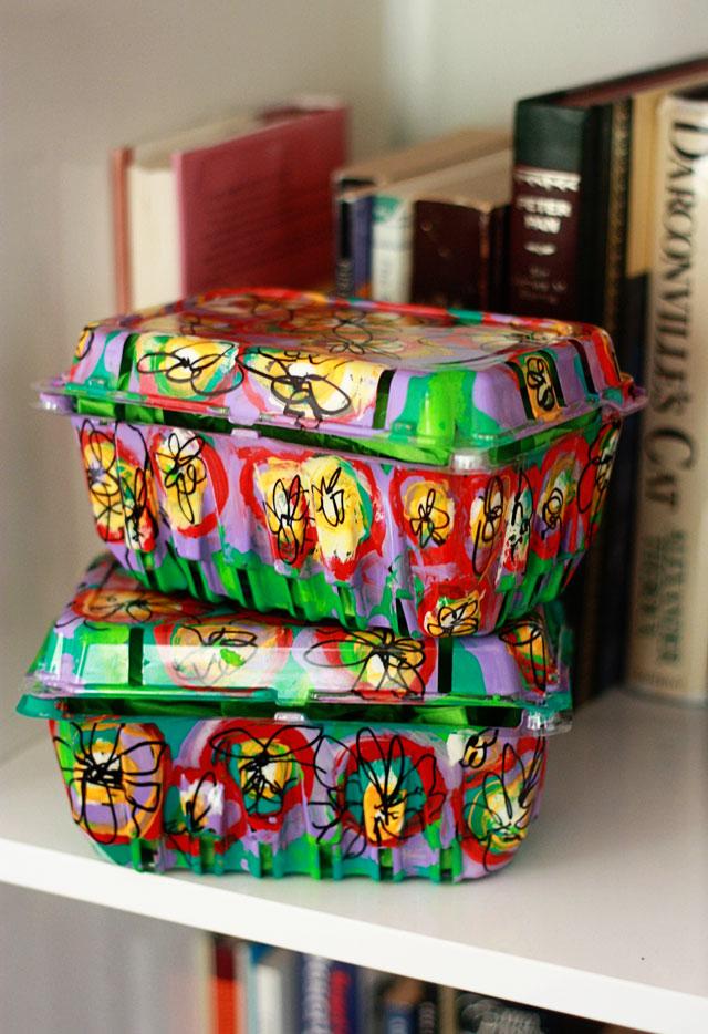 Friday Flowers: Kaleidoscopic Berry Baskets