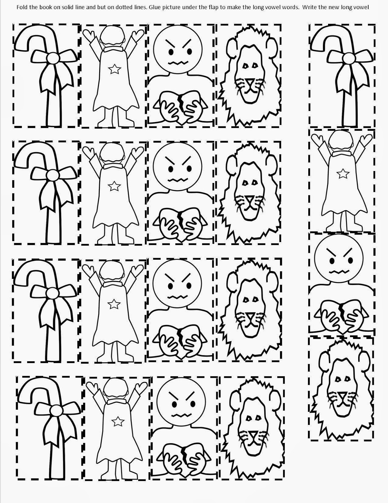 Long vowel coloring sheet - Long Vowel Coloring Sheet Students Make A Flip Book To Change The Short Vowel Word