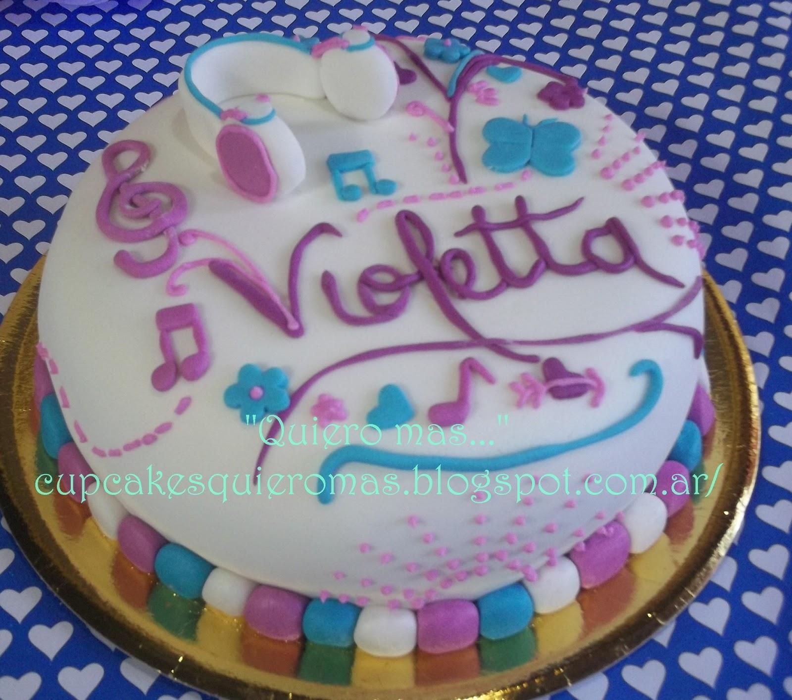 Delicias Quiero mas...: Tortas Violetta de Disney
